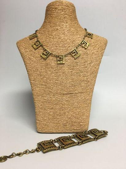 MAURICE BUFFET  Collier collerette ET Bracelet...
