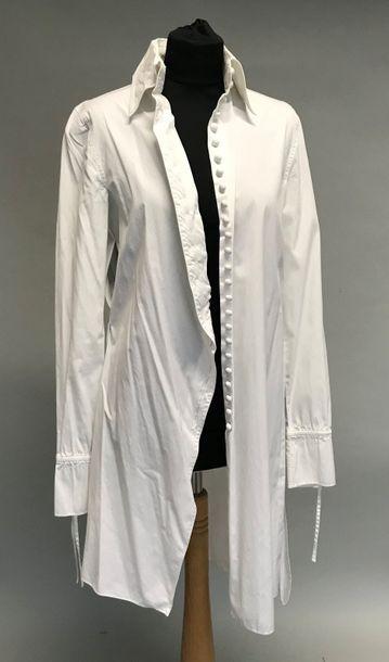 GIAN FRANCO FERRE  Surchemise en coton blanc...