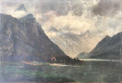 François Auguste ORTMANS (1826-1884)  Ciel...