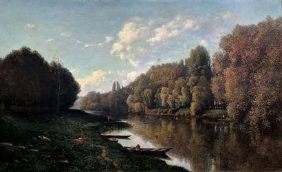 Charles Félix DESHAYES (1831-1895)  Paysage...