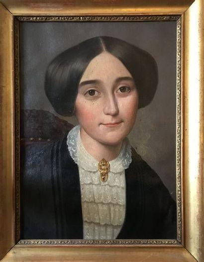 Ecole du XIXème siècle  Portrait de Félicité...
