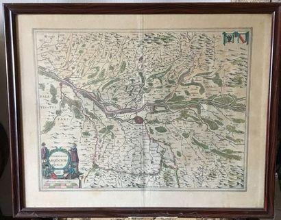 Carte ancienne Territorium Argentora Tense...