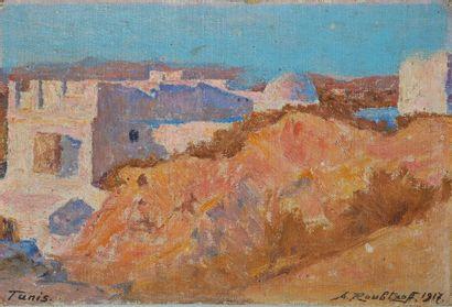 Alexandre ROUBTZOFF (1884-1949)  Tunis  Huile...