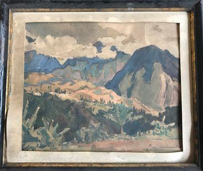 Maurice MENARDEAU (1897-1977)  Paysage de...