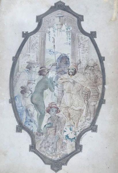 Angel Alexio MICHAUT ( 1879 - ?)  Le harem...