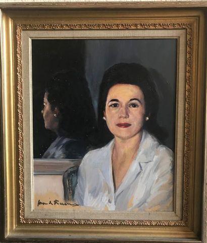 Jacques FAVRE DE THIERRENS (1895-1973)  Portrait...