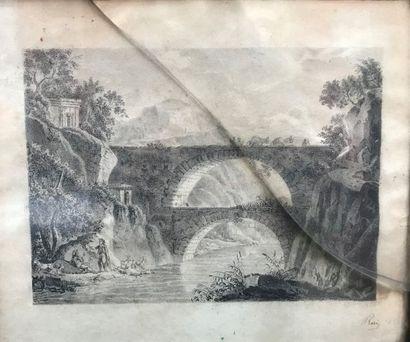 Ecole française du XIXème siècle  Viaduc...
