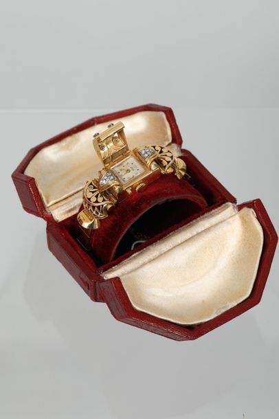 FORTIS  Montre bracelet joaillerie en or...