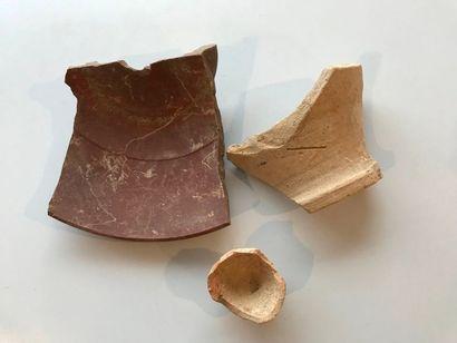 Terres cuites diverses. De l'époque gréco-romaine...