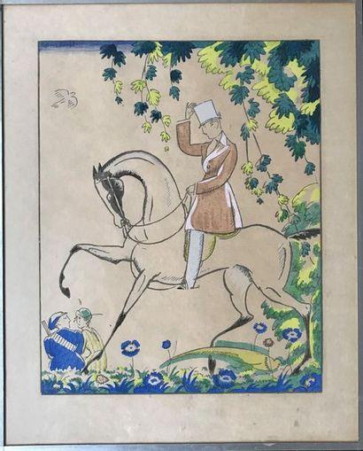 Robert BONFILS (1886-1972)  La promenade,...