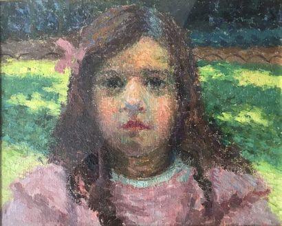 Roger GRILLON (1881-1938)  Portrait de fillette...