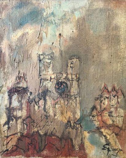 Henri ESPINOUZE (1915-1982)  La cathédrale...