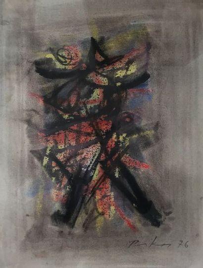 Bill PARKER (1922-2009)  Composition  Acrylique...