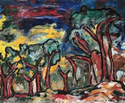 Christian DURIAUD (né en 1944)  Forêt  Huile...
