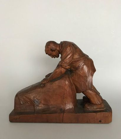 Raymond BIGOT (1872-1953)  Le tanneur  Sculpture...