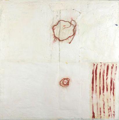 Gino BAFFO (né en 1957)  Composition  Huile...