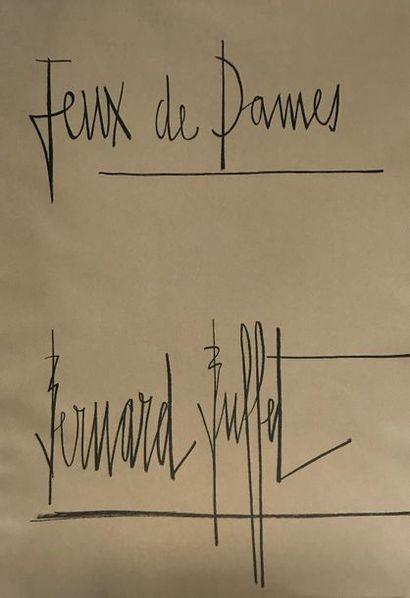 Bernard BUFFET (1928-1999) Jeux de dames...
