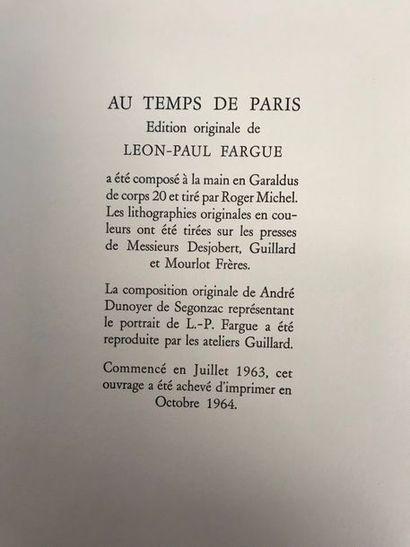 Léon Paul FARGUE (1876-1947) Au temps de...
