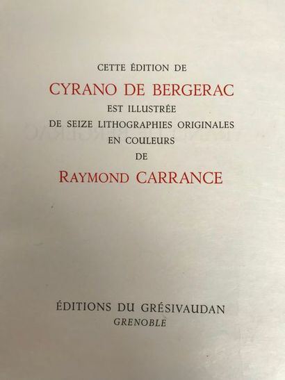 Edmond ROSTAND (1868-1918) Cyrano de Bergerac...