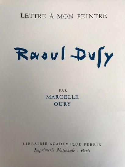 Marcelle OURY (1894-1980) Lettre à mon peintre...