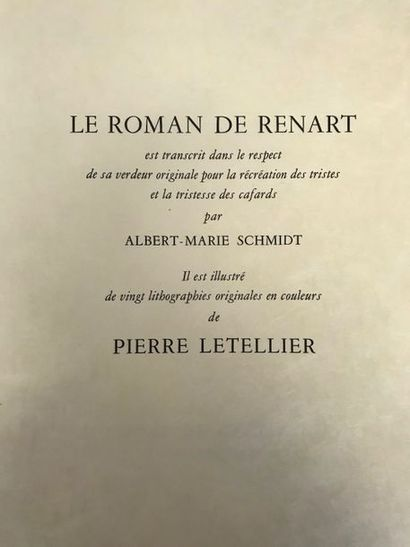 Le roman de Renart transcrit par Albert Marie...