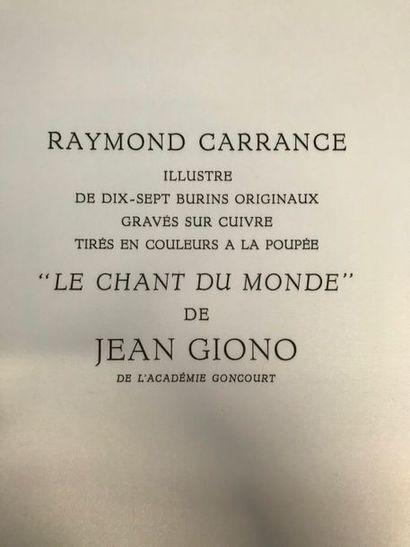 Jean GIONO (1895-1970) Le chant du monde...