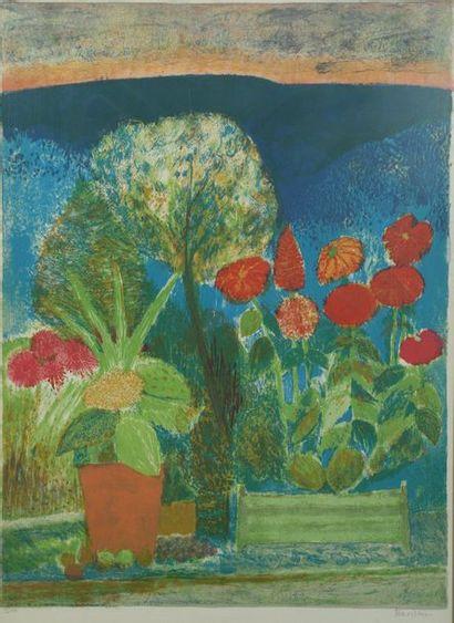 Guy BARDONE (1927-2015)  Bouquet de fleurs...