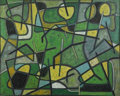 James PICHETTE (1920-1996)  Tirol 1951  Huile sur toile signée, datée en bas à droite...