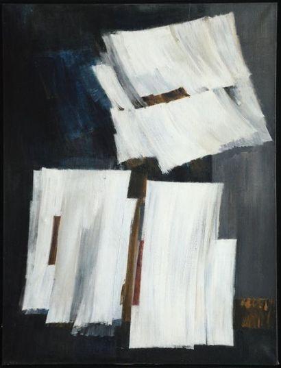 Pierre FICHET (1927-2007)  Les corps mystiques 1957  Huile sur toile, signée, datée...