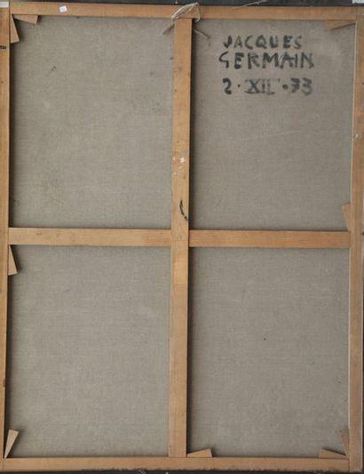 Jacques GERMAIN (1915-2001)  Composition  Huile sur toile signée en bas à droite,...