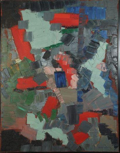 Oscar GAUTHIER (1921-2009)  Composition CQ-ZZQ...