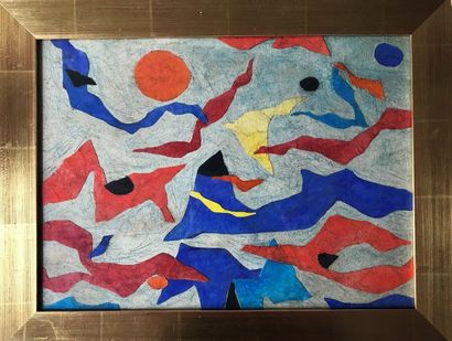 Gustave SINGIER (1909-1984)  Formes en mouvement...