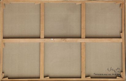 Gustave SINGIER (1909-1984) Intérieur avec vue sur la mer 75 Huile sur toile signée,...