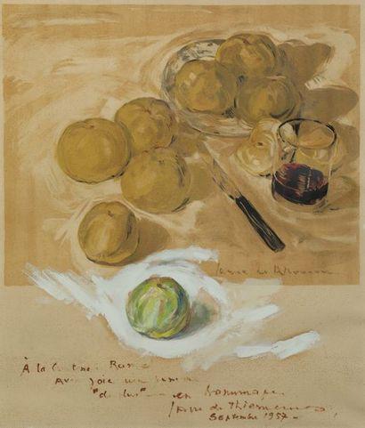 Jacques FAVRE de THIERRENS (1895-1973)  Une...