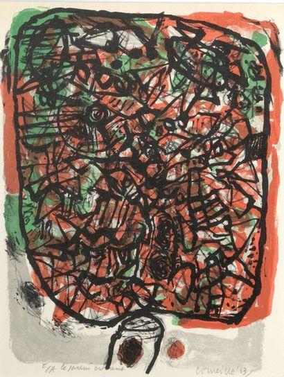 Guillaume van BEVERLOO dit CORNEILLE (1922-2010)  Le Jardin  Lithographie épreuve...