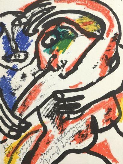 Bengt LINDTROM (1925-2008)  Carte de voeux...