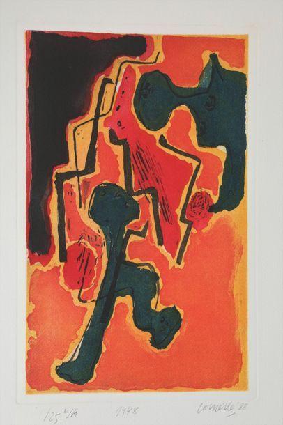 Guillaume van BEVERLOO dit CORNEILLE (1922-2010)  1948  Epreuve d'artiste numérotée...