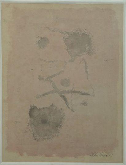 Leon ZACK (1892-1980)  Composition 63  Lavis...