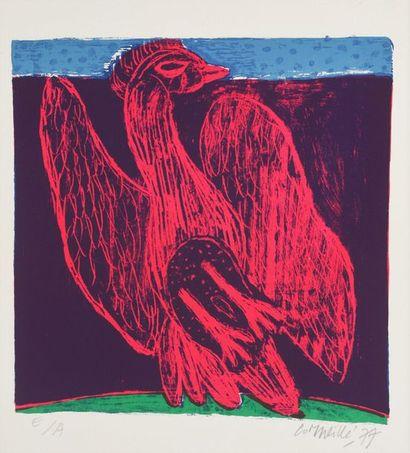 Guillaume van BEVERLOO dit CORNEILLE (1922-2010)  Le poulet volant  Epreuve d'artiste...