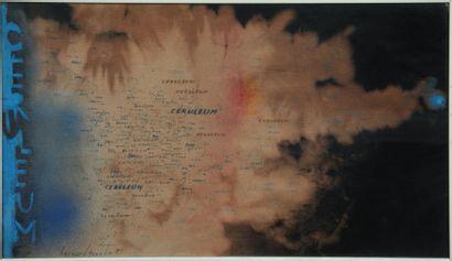 Bernard QUENTIN (né en 1923)  Ceruléum  Technique mixte sur fibre textile, signée...