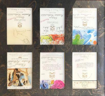 Cadre avec 6 étiquettes Mouton Rothschild...