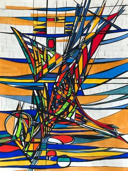 Bernard HERZOG (né en 1935)  Projets de vitraux...
