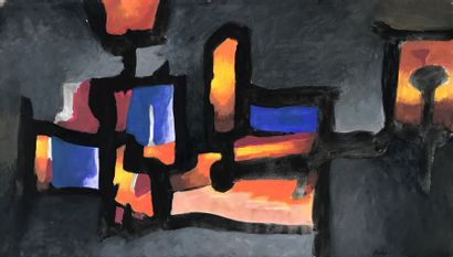 Paul ACKERMAN (1908-1981)  Lanternes  Aquarelle...