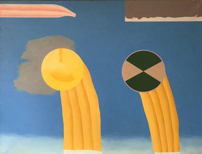 Jean-Paul AGOSTI (né en 1948)  2 soleils...