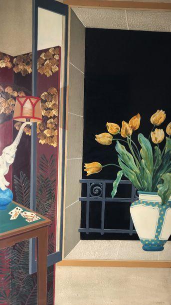 Louis MIDAVAINE (1888-1978)  Le bouquet de...
