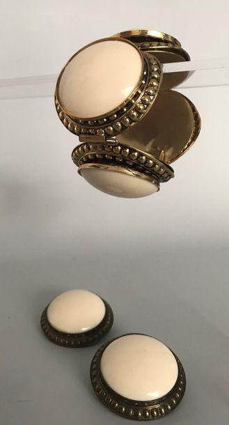 POGGI Paris  Bracelet et Paire de clips d'oreilles...