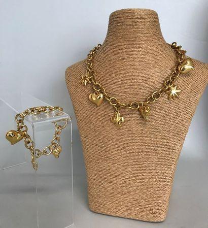 CHRISTIAN LACROIX  Collier et Bracelet en...