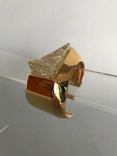 CHLOE  Bracelet jonc moderniste en métal...