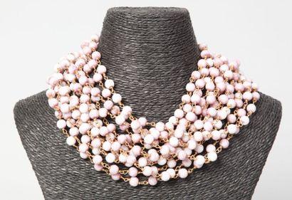 WOLLOCH  Collier multi rangs en perles de...