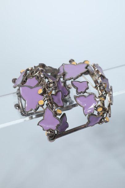 KARL LAGERFELD  Bracelet trillage en métal...